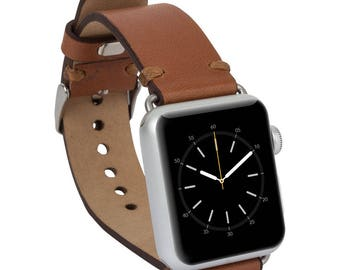Apple watch band, 42mm, 38mm, Leather watch band, Apple watch strap, iwatch band, Apple watch leather band, iwatch strap - Tan