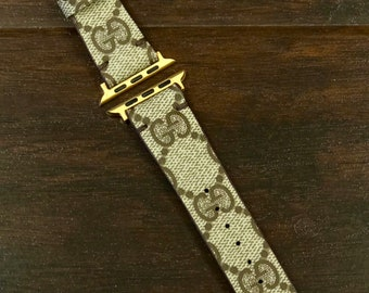 Authentic Re-purposed Handmade GUCCI Apple Watch Band Series 1, 2, 3,4  - 38 mm, 40 mm, 42 mm, 44 mm Benito