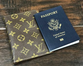 LV Upcycled, Reworked, Authentic bags used ONLY. Louis Vuitton Passport Cover, Louis Vuitton, Passport Cover