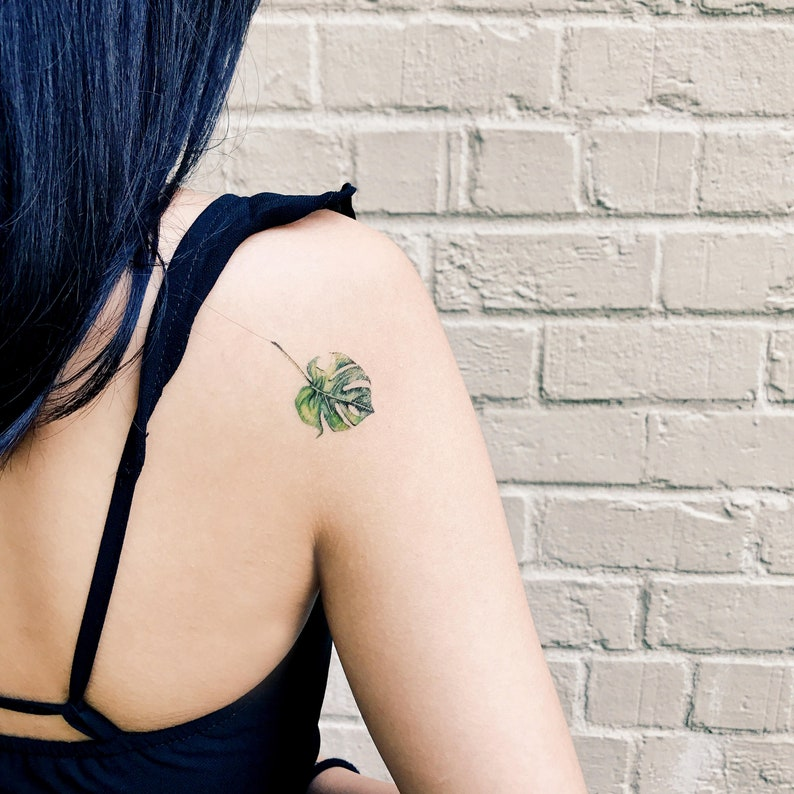 021ed97c814be Plant/Leaf Series Temporary Tattoo Watercolor hand-painted | Etsy