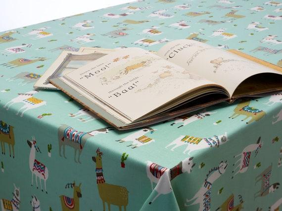 Oilcloth  Beige Linen Wipe// Wash Table Cloth  Fabric metre// half
