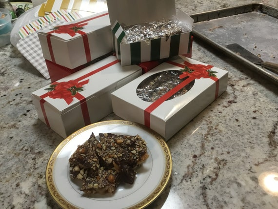 Christmas Business Gifts.Christmas Candy Buttery English Toffee Business Gifts Neighbor Gifts