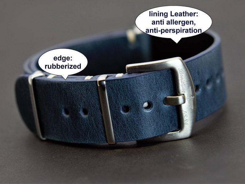 c8bebe480ee For Nato strap Zulu leather band fits Breitling VINTAGE