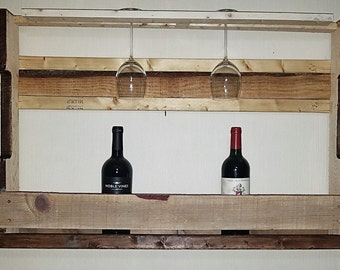 Large pallet wine rack
