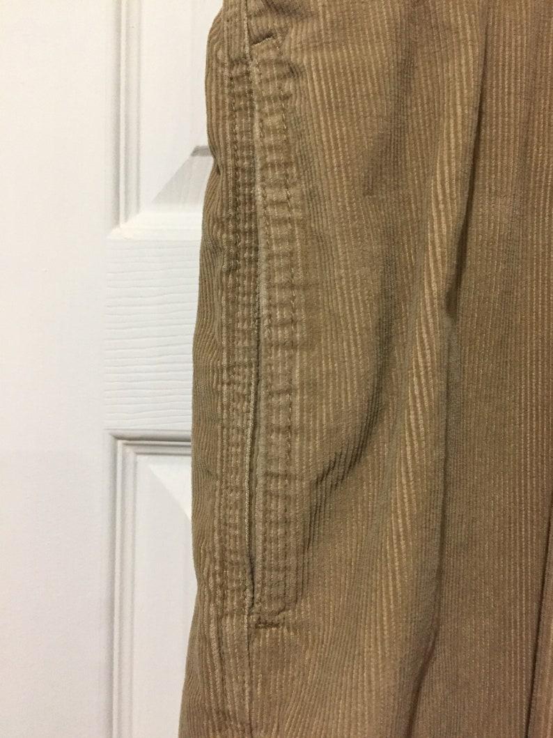 Eddie Bauer Corduroy Full Elastic Comfort Waist Paints Size L Inseam 28 Tan