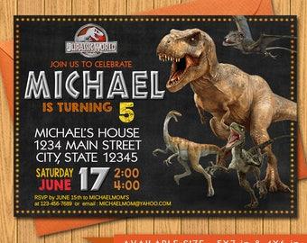 Jurassic World Invitation - Jurassic World Chalkboard Birthday Party Invite - Printable And Digital File