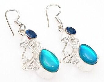 16e20609b Mystic Topaz Fine Gemstone .925 Sterling Silver Jewelry Earring 2
