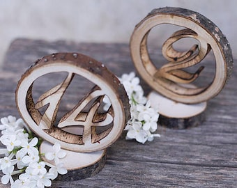 Wedding table numbers Wooden table numbers  Rustic table numbers Woodland wedding decor Boho table numbers Freestanding wedding numbers