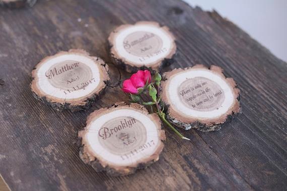10 Cartes De Lieu Mariage Bois Escort Place Rversible Rustique Visite