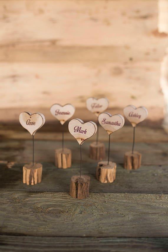 10 Holz Namenskarten Holz Hochzeit Tischkarten Holz Escort Etsy