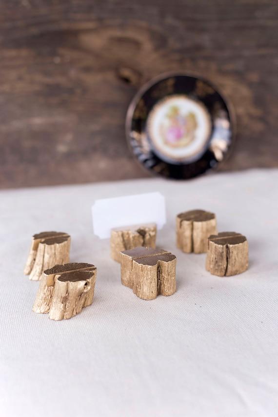 20 Gold Hochzeit Tisch Kartenhalter Holz Tischkartenhalter | Etsy