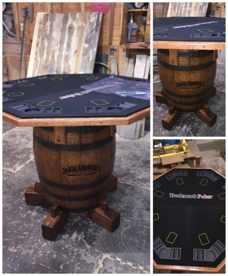 Beau Jack Danielu0027s Whiskey Barrel Custom Poker Table