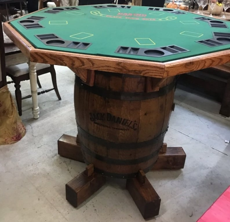 Merveilleux Jack Danielu0027s Whiskey Barrel Custom Poker Table
