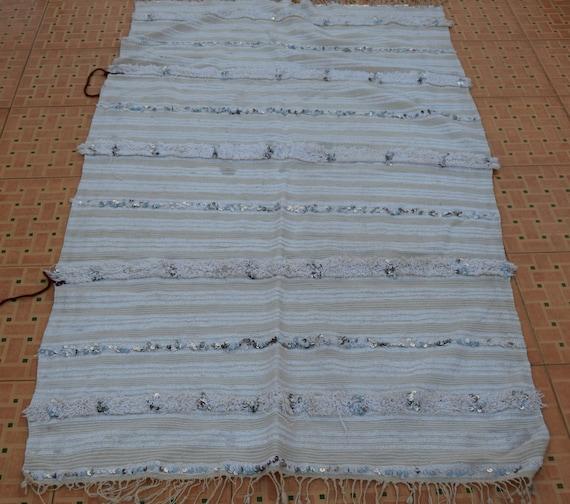 Bohemian Rug Moroccan Wedding BlanketHandmade