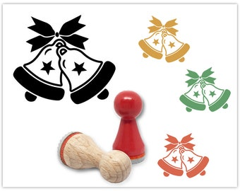 rubber stamp christmas bells 15 mm - Christmas Stamp