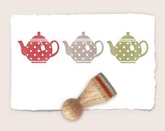 P60 Miniature Teapot Rubber Stamp