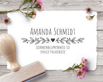 Personalized return address stamp BRANCHES