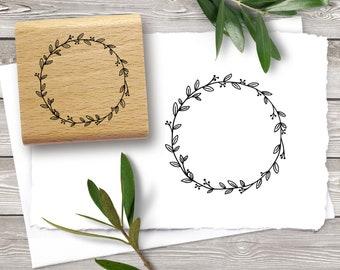 Rubber stamp WREATH ∅ 40 mm / 1.57 inches