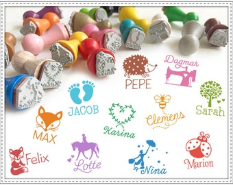 Customized rubber stamp NAME + IMAGE 15 mm