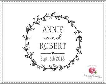 Wedding stamp WREATHLET