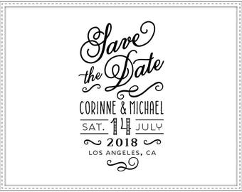 Rubber stamp SAVE THE DATE 001