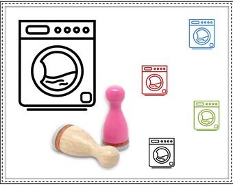 Rubber stamp WASHING MACHINE Ø 12 mm