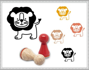 Rubber stamp LITTLE LION Ø 15 mm