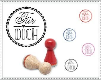 Rubber stamp FÜR DICH Ø 15 mm