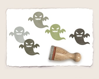 Mini rubber stamp VICIOUS GHOST Ø 12 mm / 0.47 inch