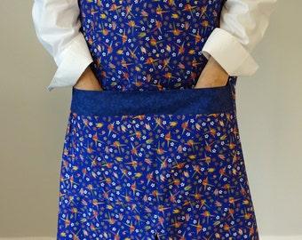 Japanese Apron, Bib Apron, One-of-a-kind Apron, Full length, Women's  Apron