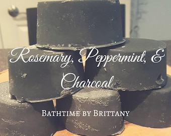 Peppermint + Charcoal Hair Care | READY TO SHIP | Handmade | Shampoo Bar | Conditioner Bar | Solid Shampoo | Solid Conditioner | Travel