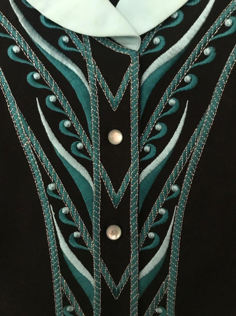 Bob Mackie Embroidered BlouseJacket