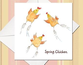 Funny chicken card | Etsy