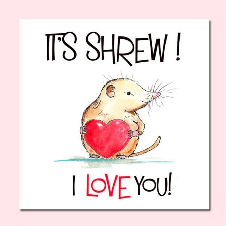 Love Birthday Card Animal Birthday Card Valentines Card Kindness card Love Card Valentines Day