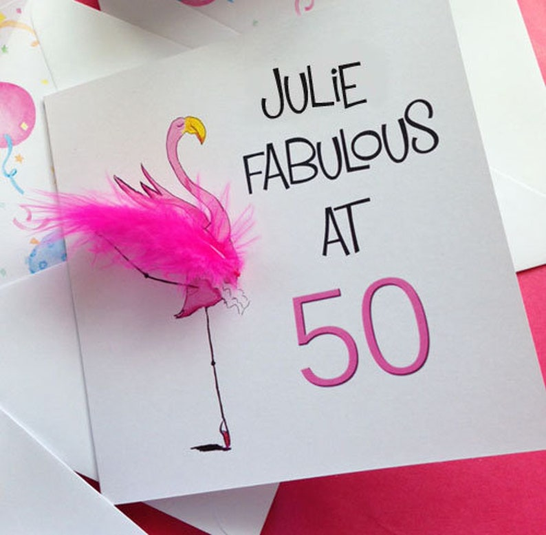 Personalised Fabulous at 50 Birthday Card