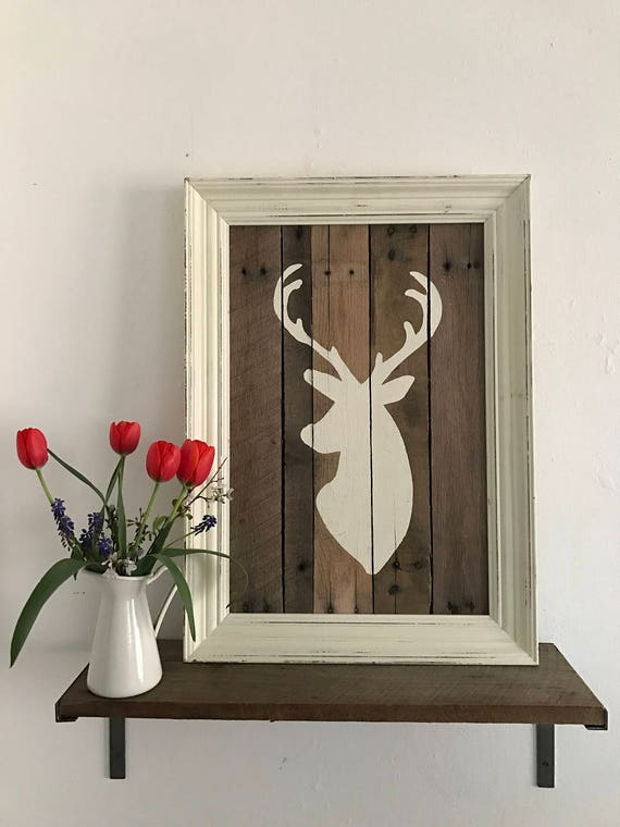 Deer Wall Art, Rustic Pallet Wall Art, Deer Pallet Wall Hanging,Farmhouse Wall Hanging, Rustic Wall Hanging, Pallet Wall Hanging,