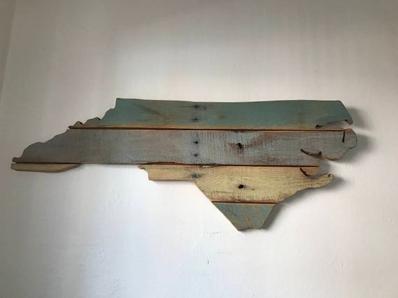 Map of North Carolina made with up cycled pallets