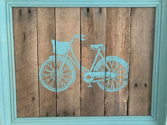 Bicycle Pallet Wall Art