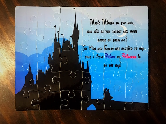 Disney Inspired Pregnancy Announcement Puzzle Etsy