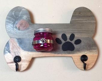 DOG LEASH HOLDER, Wood Bone Dog Leash Hanger, Bone-Shaped Leash Holder, Dog Leash Hook, Leash Hook, Dog Leash, Dog Collar Hooks