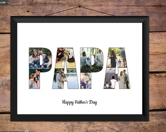 Dad Photo Collage Papa Fathers Day Gift Father Birthday Daddy Husband