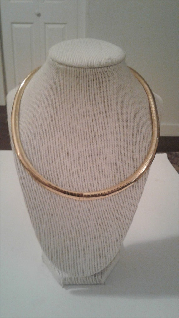 Joan Rivers Vintage Gold Plated Omega Collar Neckl
