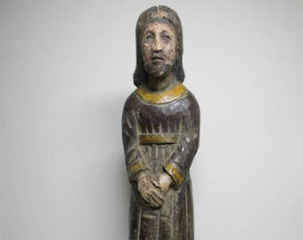 19th Century Philippine Wooden Jesus Christ Santos