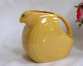 Vintage Fiesta Ware by Homer Laughlin 5.5 quot 28 oz. Pitcher Marigold Color Made in the USA Perfect Condition