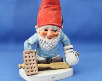 Adorable Farmhouse Vintage 1970 Co-Boy Tom Gnome Porcelain West Germany Goebel Gnome Figurine Honig Honey Mountain Gift