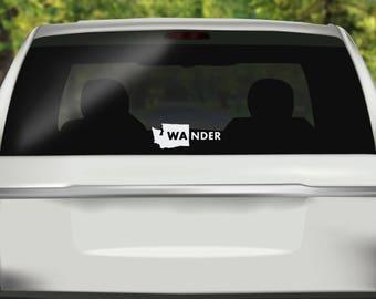 Washington Wander Decal - PNW Car Decal -  Pacific Northwest Sticker - Washington Sticker - Bumper sticker - Vinyl Decal - Car Sticker