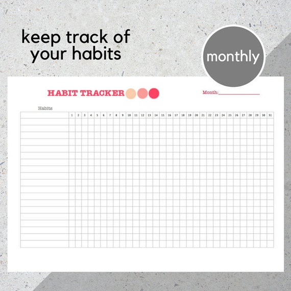 picture relating to Printable Goal Tracker named Behavior Tracker Printable/ Reason Tracker/ Planning/ Planner