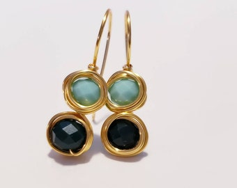 f8bcf741ef9 Pendiente de oro esmeralda