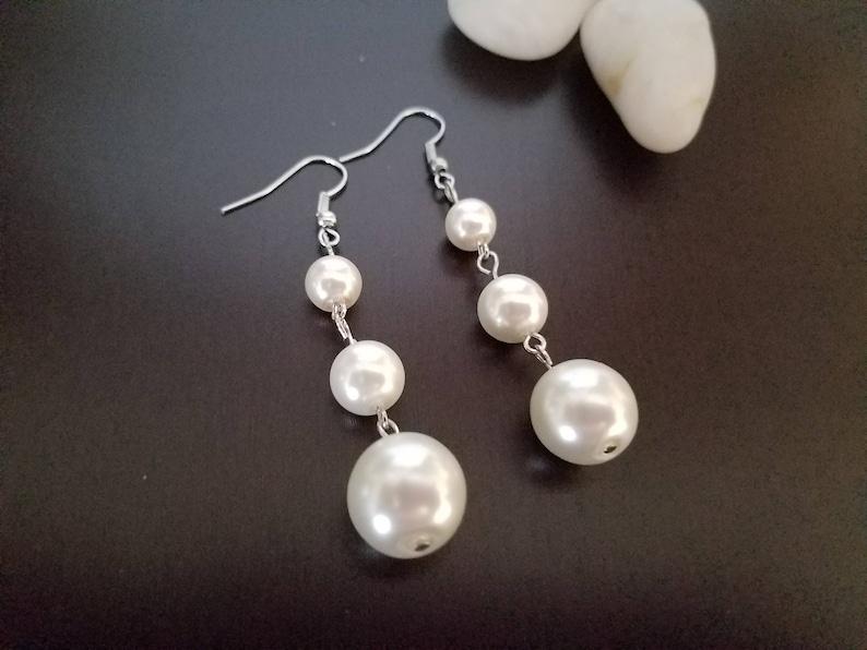 Pearls Earrings Bredesmaid Gif Girlfriend Gift Gift for Women silver Earrings Earrings Dainty Wedding Jewelry Jewelry Handmade