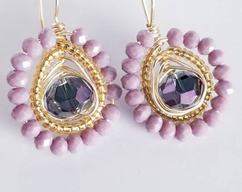 Earrings Amethyst / MOTHER GIFT / Mother earrings/ Mother Day Jewelry/ Gift For Women / Dainty  Earrings / Gift For Mother/ Aretes Amatista